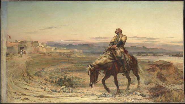 The Remnants of an Army 1879 by Elizabeth Butler (Lady Butler) 1846-1933